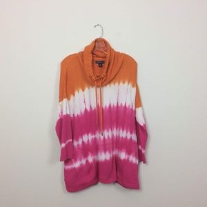 American Living Tie Dye Funnel Neck Sweatshirt